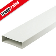 Manrose Flat Channel Pipe White 120mm