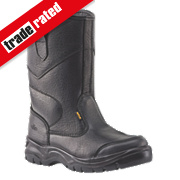 Site Gravel Rigger Safety Boots Black Size 8