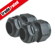 Tower Male Comp Gland Black 25mm Pack of 2