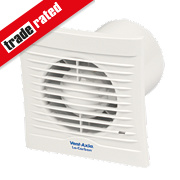 Vent-Axia 100B 6W LoCarbon Silhouette Axial Bathroom Extractor Fan