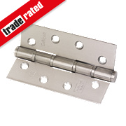 Eclipse Grade 7 Washered Fire Hinges Satin Stainless Steel 102 x 67mm Pk2