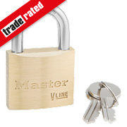 Master Lock Keyed Alike Padlock Brass 40mm