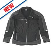 "Hyena Summit Softshell Fleece Jacket Black Medium 44"""