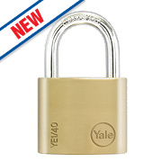 Yale Brass Open Shackle Padlock 40mm