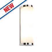 Saxby Ice Bathroom Wall Light Chrome G9 56W