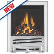 Focal Point Horizon Chrome Rotary Control Gas Inset Full Depth Fire