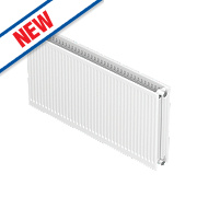 Barlo Round-Top Double Panel Radiator White 300 x 1000mm