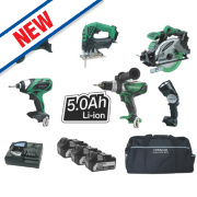 Hitachi KTL618SJ/JJ3 18V 5Ah Li-lon Cordless 6 Piece Kit