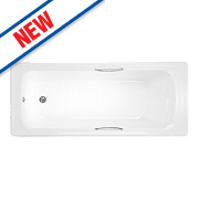 Supercast Bath with Grips Acrylic 2 Tap Holes 1710mm