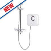 Bristan Thermostatic Power Shower White/Chrome