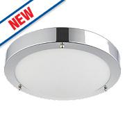 Saxby Portico LED Bathroom Ceiling Light Chrome 9W
