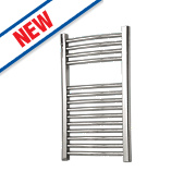 Flomasta Curved Towel Radiator Chrome 700 x 600mm 242W 825Btu