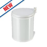 Hailo Compact Inner Kitchen Waste Bin White 15Ltr