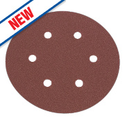 Flexovit Sanding Discs Punched 150mm 120 Grit Pack of 6