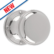 Dempsey & Locke Unsprung Ringed Mortice Knobs Pair Polished Chrome 56mm