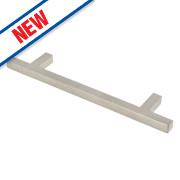 Square T Bar Handle Satin Nickel 128mm