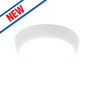 Saxby Vigor LED Microwave Sensor Emergency Lighting Bulkhead Opal 19W