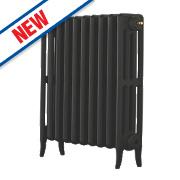 Arroll Neo-Classic 4-Column Cast Iron Radiator Black Primer 660 x 634mm