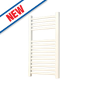 Flomasta Curved Ladder Towel Radiator White 700 x 400mm 264W 901Btu