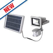 LAP LED Solar Floodlight with PIR Silver