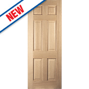 Jeld-Wen Oregon 6-Panel Interior Door Oak Veneer 1981 x 838mm
