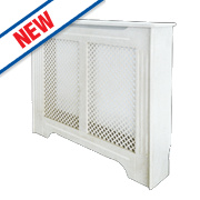 Victorian Radiator Cabinet Medium White 1220 x 210 x 918mm