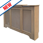 Victorian MDF Adjustable Radiator Cabinet Unfinished 970-1420 x 235 x 936mm