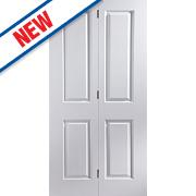 Jeld-Wen Oakfield 4-Panel Interior Bi-Fold Door Primed 1950 x 595mm