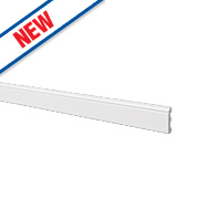 Ogee Skirting Board White 2.44m x 80mm x 12mm 6 Pack