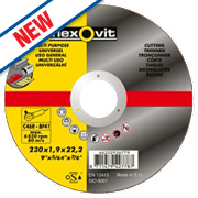 Flexovit Multipurpose Cutting Discs 230 x 1.9 x 22.23mm Bore Pack of 3