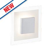 Brilliant Budapest Square LED Wall Light Satin Chrome 5W 240V