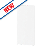 Matt White Profiled Kitchen Add-On Wall Panel 355 x 18 x 776mm