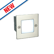 Saxby Oscar Recessed LED Brick Light Brushed Stainless Steel 0.6W