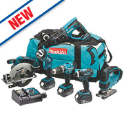 Makita DLX6017M 18V 4.0Ah Li-Ion 6 Piece LXT Power Tool Kit