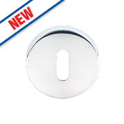 Eurospec Mortice Key Escutcheons Polished Stainless Steel 54mm Pack of 2