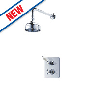 Swirl Maddison Thermostatic Dual Control Mixer Shower Built-In Chrome
