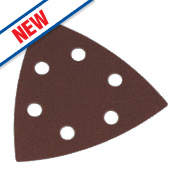 Flexovit Delta Sanding Triangles Punched 95mm Assorted Grit Pack of 6