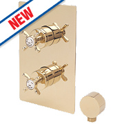 Bristan 1901 Shower Valve Fixed Built-In/Exposed Gold