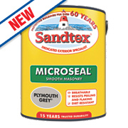 Sandtex Ultra Smooth Masonry Paint Plymouth Grey 5Ltr