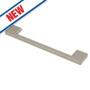 Fingertip Design Slim D Handle Satin Nickel 128mm