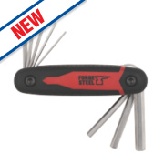 Forge Steel Metric Folding Hex Key Set 8 Pieces