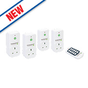 Energenie 13A Wireless Remote Control Sockets Pack of 4