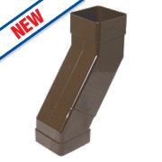 FloPlast Square Adjustable Offset Bend Brown 25-65mm