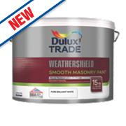 Dulux Trade Weathershield Smooth Masonry Paint Pure Brilliant White 10Ltr