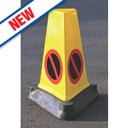 "JSP Triangular Mk4 ""No Waiting"" Traffic Cones 710mm Pack of 3"
