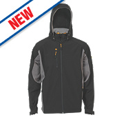 "JCB Stretton Soft Shell Jacket Black/Grey Medium 39½"" Chest"