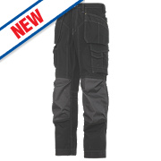 "Snickers Rip-Stop Pro-Kevlar Floorlayer Trousers Black / Grey 36"" W 30"" L"