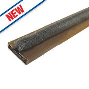 Firestop Intumescent Fire & Smoke Door Seal Brown 10 x 4 x 2100mm Pack of 10
