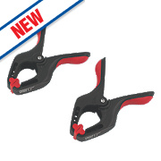 "Forge Steel Spring Clamps 6"" Pack of 2"