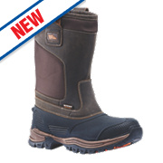 Hyena Nevis Waterproof Rigger Safety Boots Brown / Black Size 12